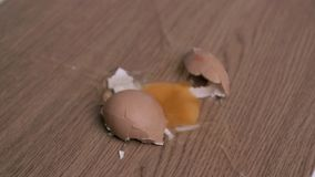 Egg in super slow motion breaking stock video