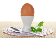 Egg in a support Stock Photos