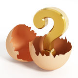 Egg surprise Stock Photography