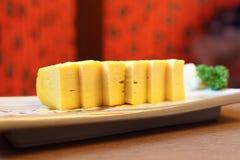 Egg sushi Royalty Free Stock Images