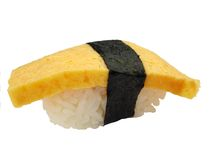 Egg sushi (Tamago) royalty free stock photography