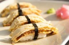 Egg Sushi Royalty Free Stock Photography