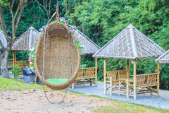 Egg swing in the park Royalty Free Stock Photos