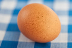 Egg on table Royalty Free Stock Image