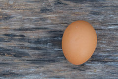 Egg on table. Egg of chicken on table Stock Images