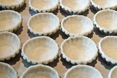 Egg tart. Preparing Egg tarts for baking Royalty Free Stock Photography