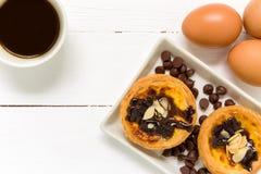 Egg Tart Background / Egg Tart / Homemade Egg Tart Background Stock Photo