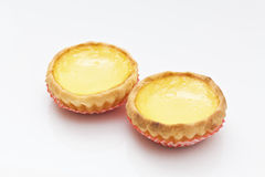 Egg tart, Hong Kong famous snack. Stock Photos