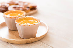 egg tart on plate Stock Photo