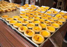 Egg tart and Portugese custard tart Stock Image