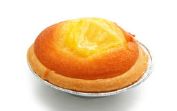 Egg tart on white Royalty Free Stock Photo