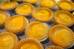 Egg tart stock image