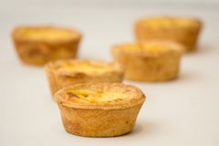 Egg Tarts. Portugese egg tarts royalty free stock photos