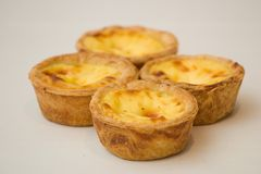 Egg Tarts. Portugese egg tarts royalty free stock images