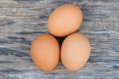 Egg. Three egg of chicken on table Royalty Free Stock Photos
