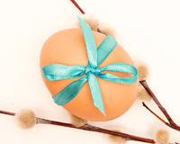 Egg tied with a ribbon Stock Photos