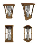 Egg Timer. (Sand Clock) in 3D & various positions royalty free illustration