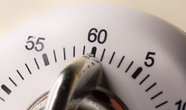 Egg Timer Close Up. White Egg Timer Close Up with numbers Stock Photography
