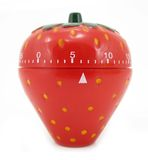 Egg timer kitchen strawberry Royalty Free Stock Photography