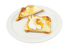 Egg on toast Stock Image