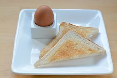 Egg and toast Stock Photography