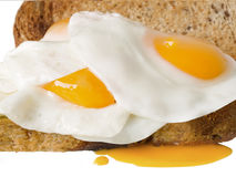 Egg toast Stock Images