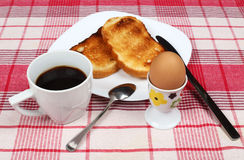 Egg, toasts and coffee Royalty Free Stock Photos