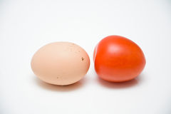 Egg and tomato Stock Photography