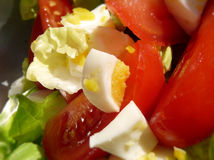 Egg and tomato salad Royalty Free Stock Images