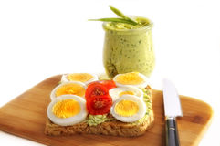 Egg and tomato sandwich Royalty Free Stock Photo
