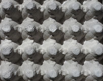 Egg Tray Texture. Egg tray give a 3d looking pattern Stock Photography