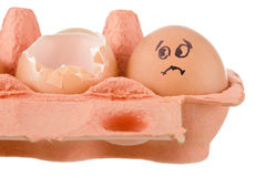 Egg trouble Royalty Free Stock Images