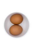 Egg. Two eggs are in cup white for healthy food Stock Photo