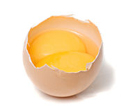 Egg with two yolks Royalty Free Stock Image