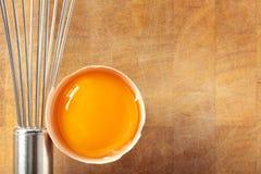 Egg und wischen Sie. lizenzfreie stockfotos