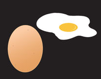 Egg. The egg vector on black background Royalty Free Stock Photography