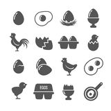 Egg vector icons Stock Images