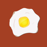 Egg vector illustration in yellow vector illustration
