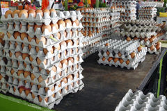 Egg vendor. An egg vendor stall in a wet market stock image