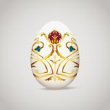 Egg with vintage decoration Royalty Free Stock Photography