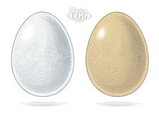 Egg in vintage engraved style Royalty Free Stock Image