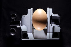 Egg on Vise Stock Photos