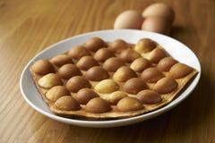 Egg waffle. Hong Kong street food egg waffle stock images