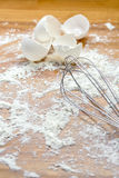 Egg Whip and Flour Royalty Free Stock Images