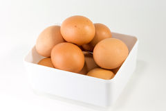 Egg in white box Royalty Free Stock Photography