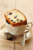 Egg White Cake with Berries Royalty Free Stock Image