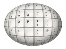 Egg White Keyboard Stock Photo