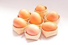 Egg in wicker Royalty Free Stock Photo