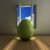 Egg on a window Stock Images
