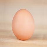 Egg On Wooden Table Royalty Free Stock Image